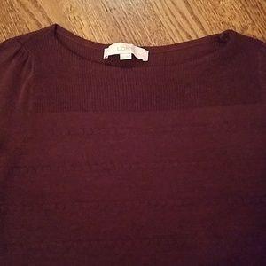 LOFT Boatneck Sweater in Maroon!